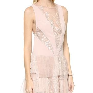 FREE PEOPLE ~Dove Party Dress~ Nude 8 M $250